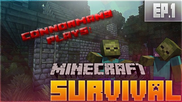 "Minecraft Survival Lets Play Episode 1 ""Hello Mr. Zomb.... Oh"""