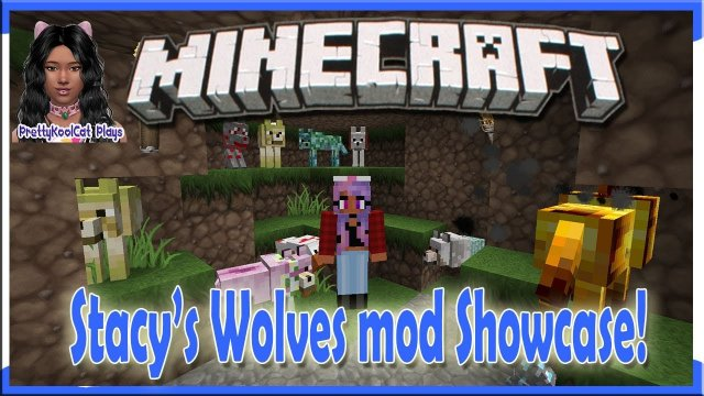 Minecraft - Stacys Wolves mod Showcase!