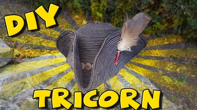 DIY - HOW TO MAKE A PIRATE HAT - TRICORN