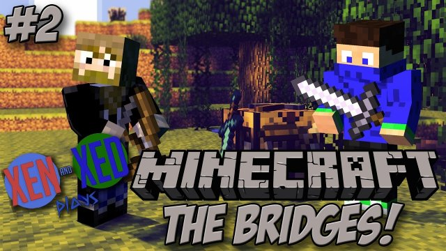 The Bridges #2 - Minecraft Minigames - Xen and Xed Plays